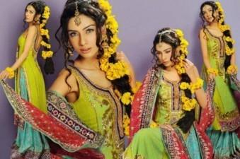 Pakistani Bridal Mehndi Dresses 2017