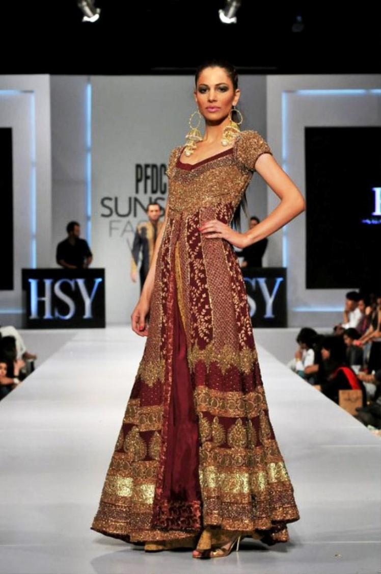 Red pakistani bridal wear online