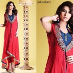 latest party wear frock by Anarkali