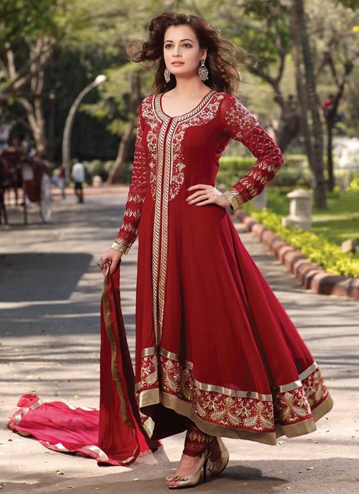 latest party wear frock by Anarkali