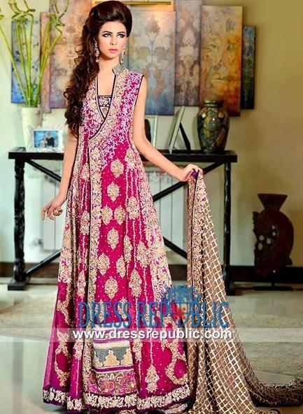 Pink angrakha style salwar kameez