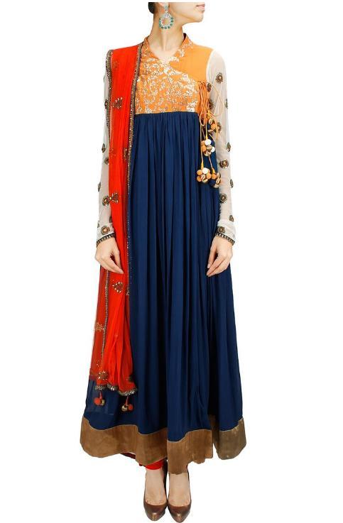 Latest Angrakha Style Dresses