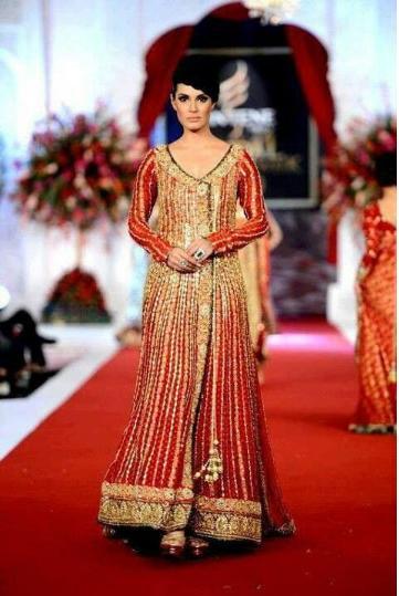 Latest Pakistani Angrakha Colorful Dresses Design 2016