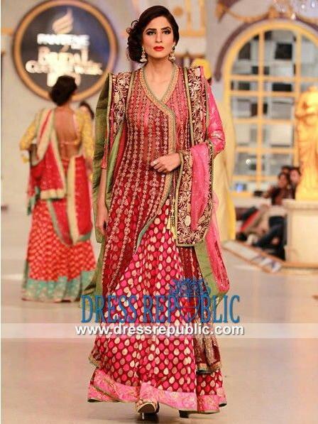 Wedding Wear Angrakha Style Dress Designs For Women