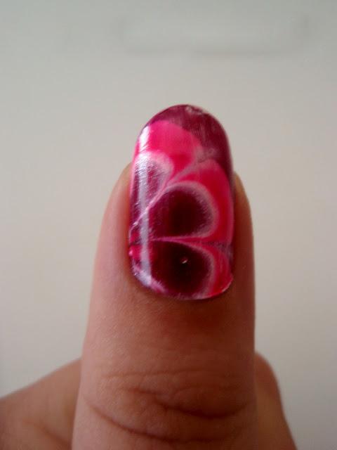 New Floral vesimarmorointi Nail Design