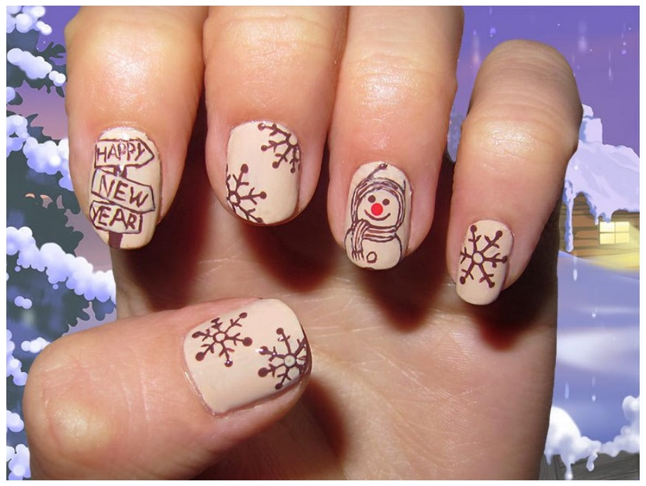 Awesome Fashion New Year Nail Art Designs 2017