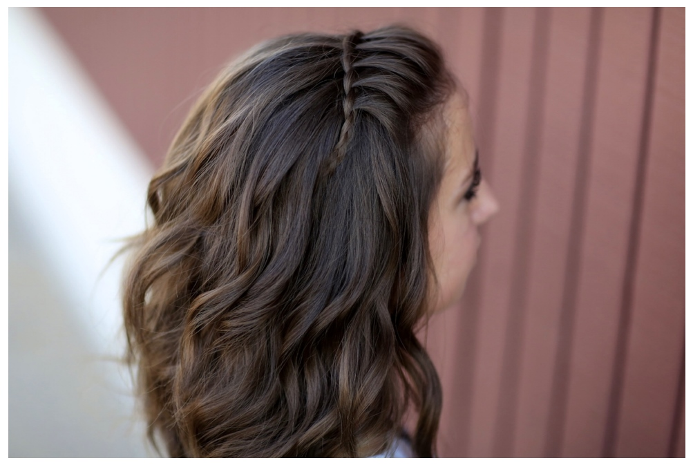 Curly New Pixie The Waterfall Braid