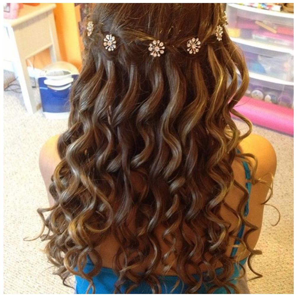 Easy Waterfall Braid Hairdo