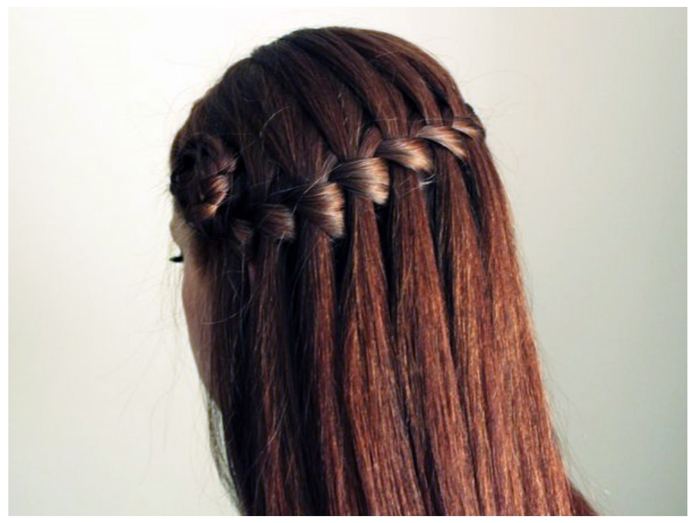 How to Make a Cascade Waterfall Braid in Pixie light Brown Shade