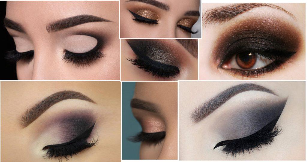 Smokey Eye Make-Up Photo collages