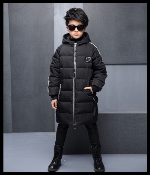 Stylish Lettering Hooded Light softened Coat for Kids