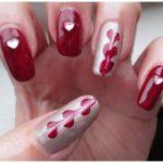Stylish Valentine Drag Marble Nail Art Design Fashion