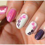 Valentine's drag marble hearts nail art Photos