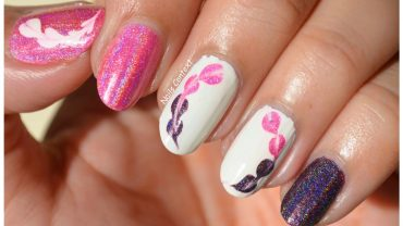 Valentine's drag marble hearts nail art Photos