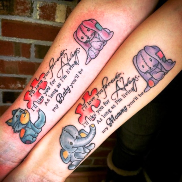 Latest Amazing Mother Daughter Tattoos Ideas