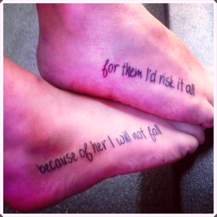 Mother Daughter Infinity Tattoos