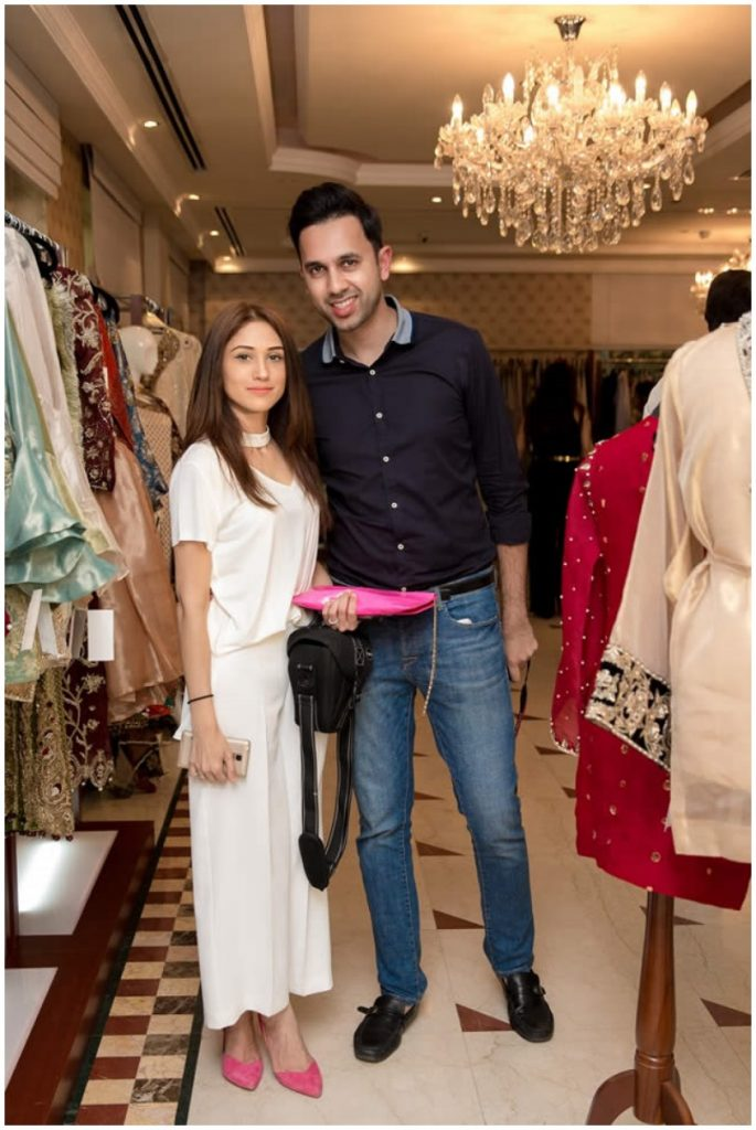 Fawad Khan with wife Sadaf at the exhibition of Silk by Fawad in dubai
