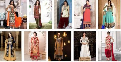 Indian Party Wear Salwar Kameez Suits 2017-18 for Girls