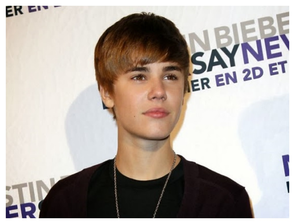 Latest Justin Bieber Hairstyle side pos kiss