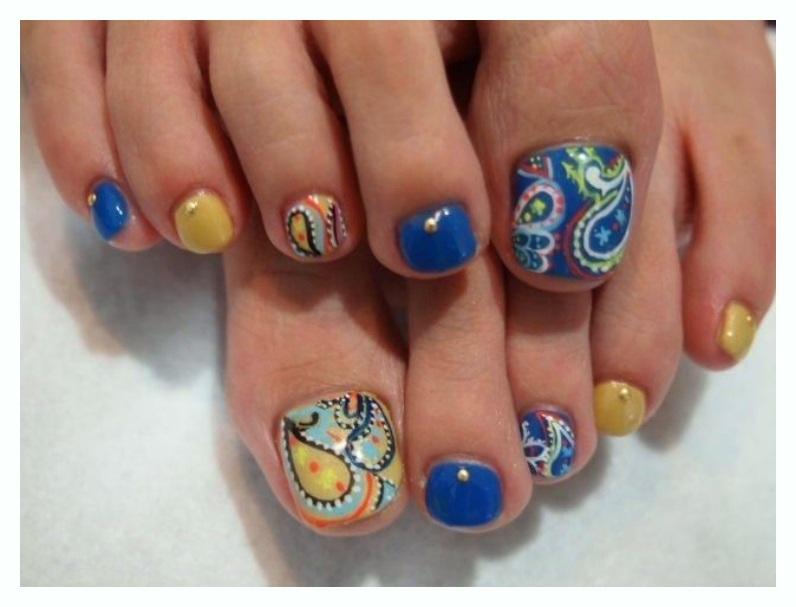 Orange Butterfly Toe Nail Designs