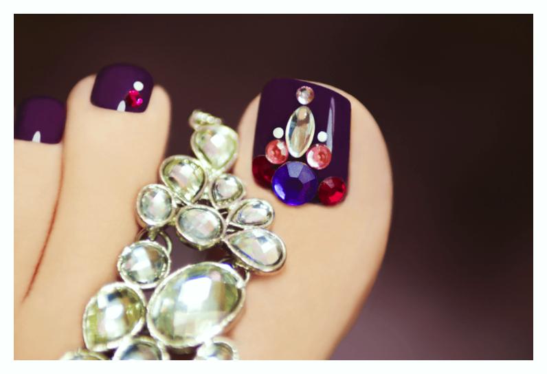Polka Ideas of Toe Nail Designs