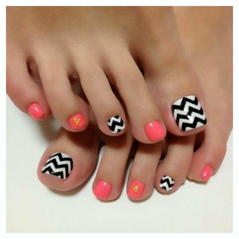 Simple FLoral Nail toe ideas 2018