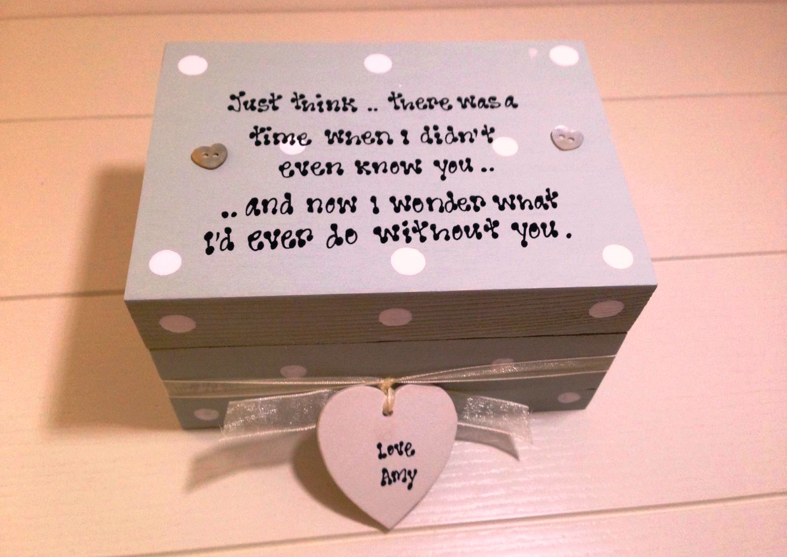 Usable sentimental gifts that celebrate Freindships.