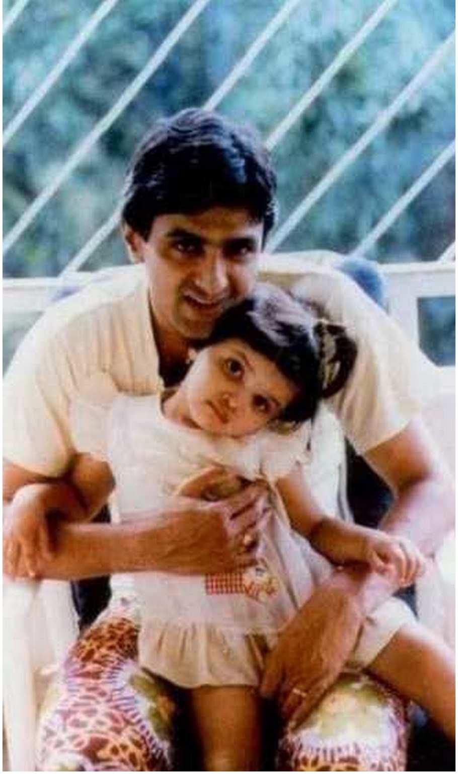 Deepika Padukone Childhood Photos with Father