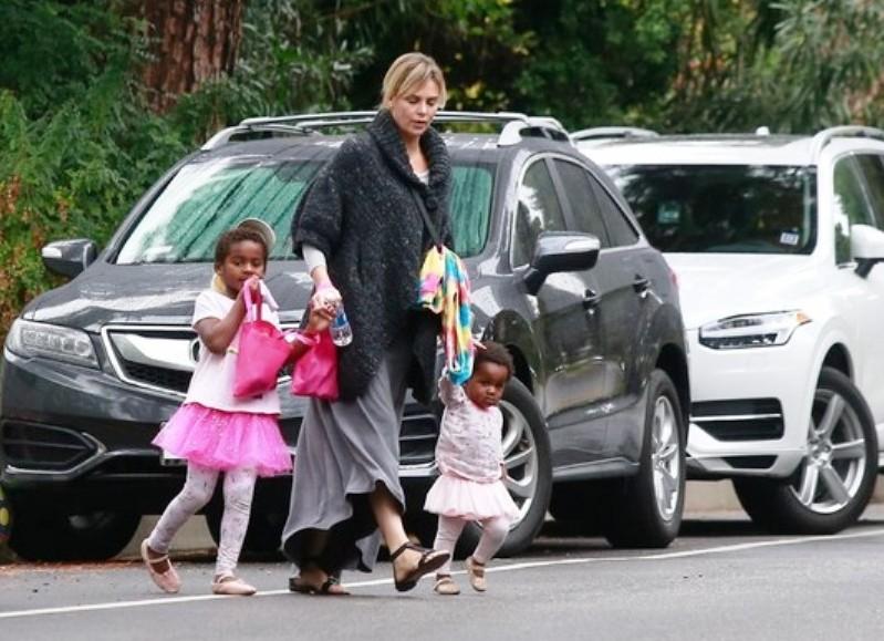 Photos of Charlize Theron Son Jackson Theron with Mom