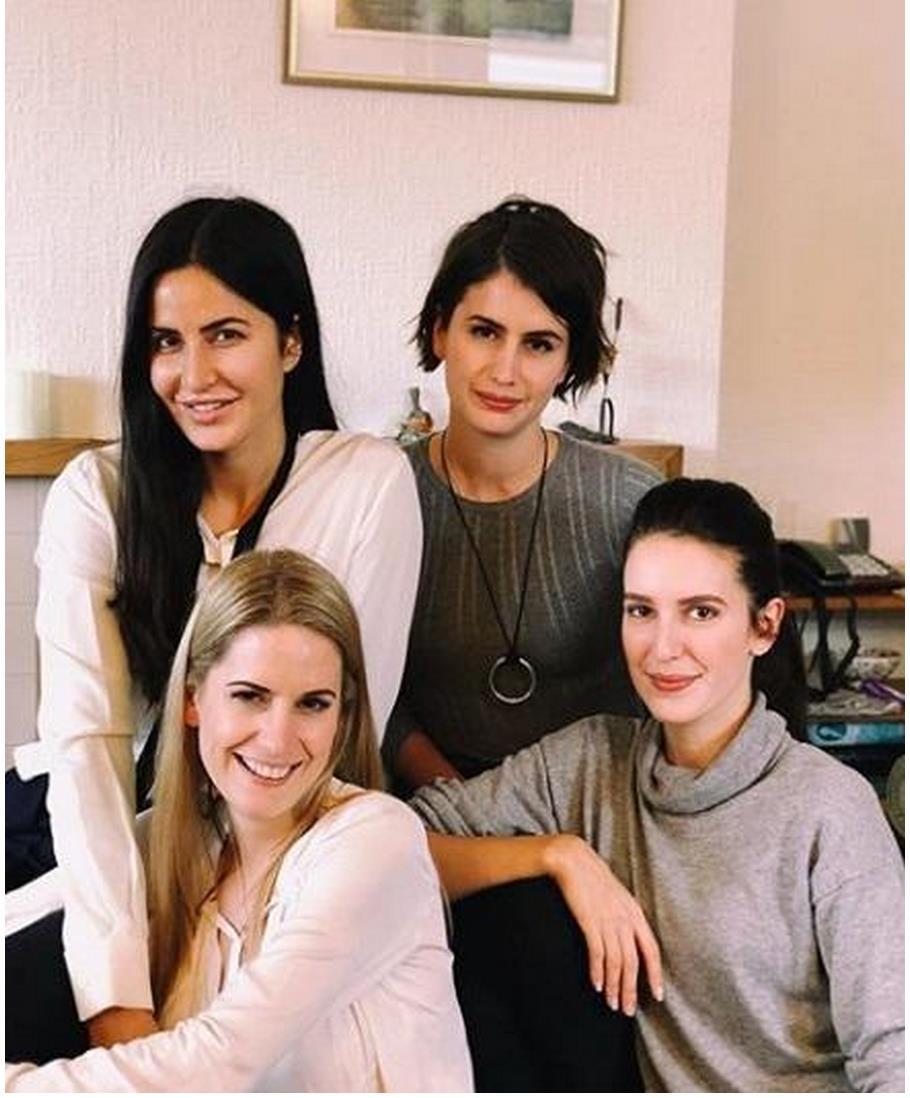 Actress Katrina Kaif with 3 other sisters