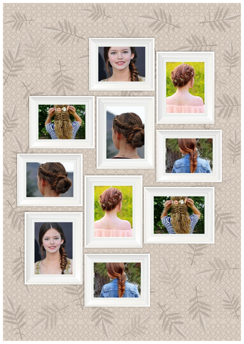 Photo collage of awesome hair style for girls