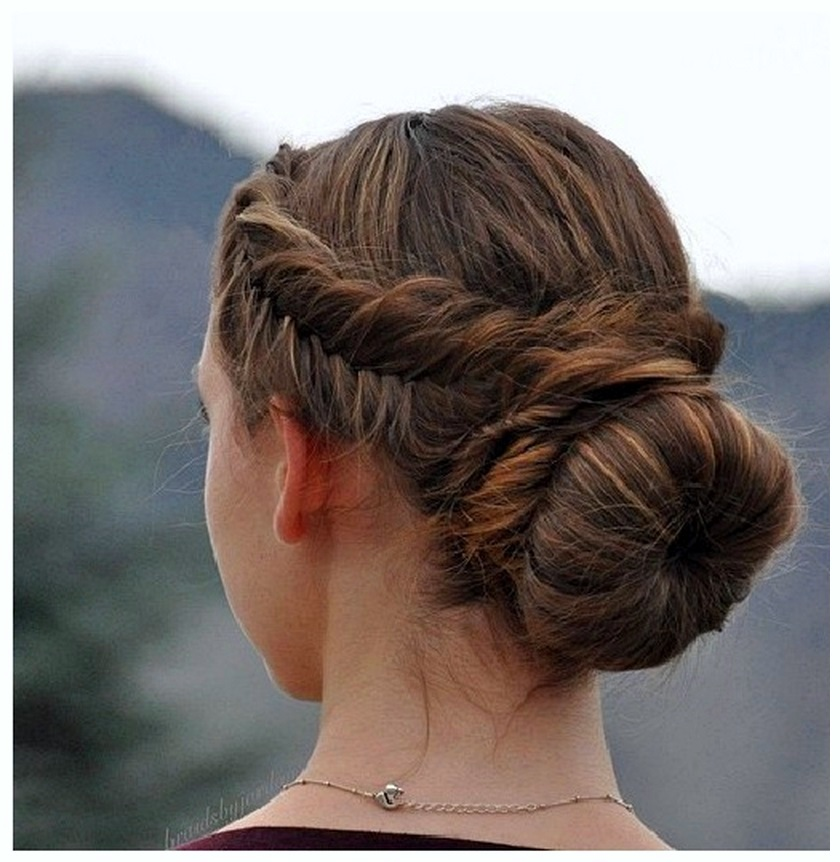 Get Bun with a Twist Hairstyle for girls