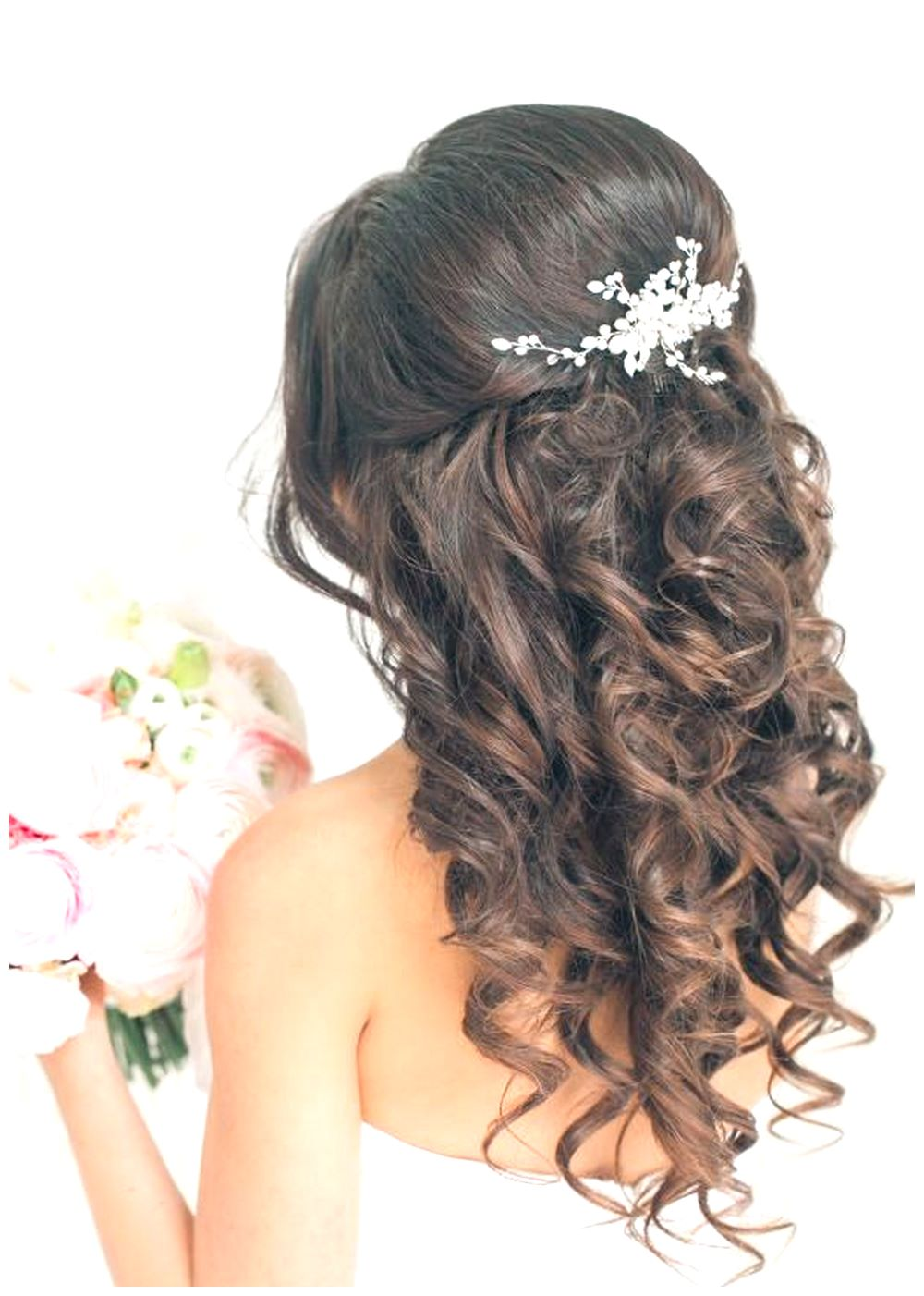 New Half up half down curl hairstyles