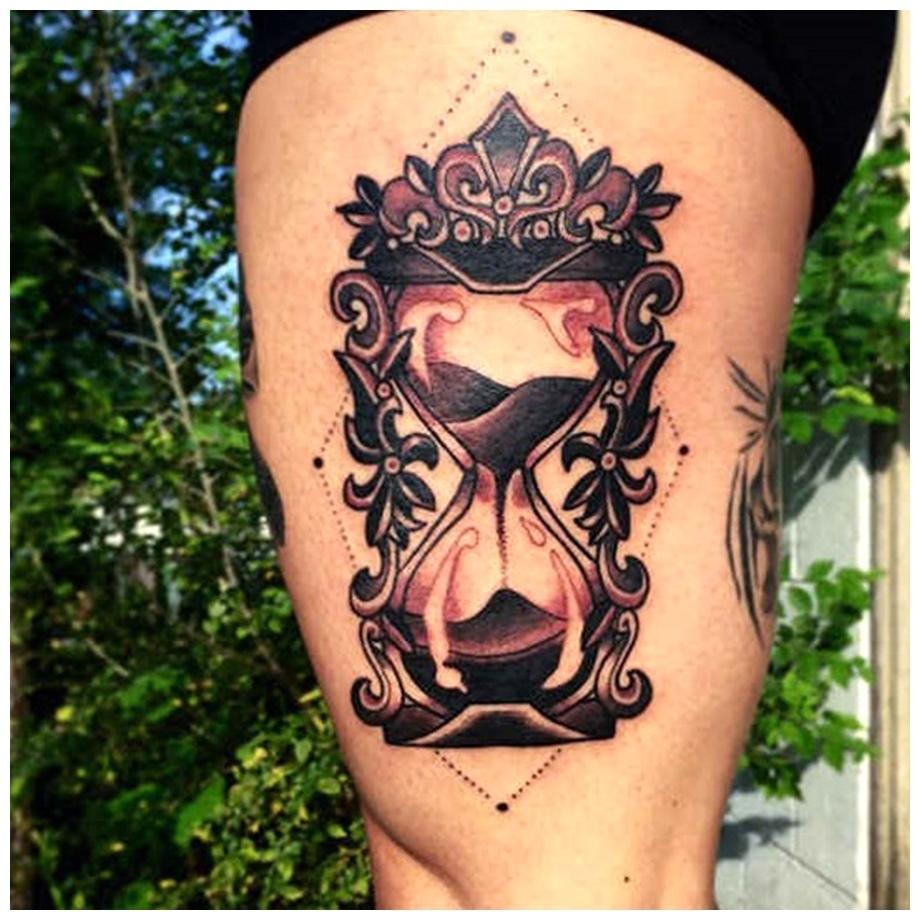 Amazing art of Thigh Tattoos for Girls body