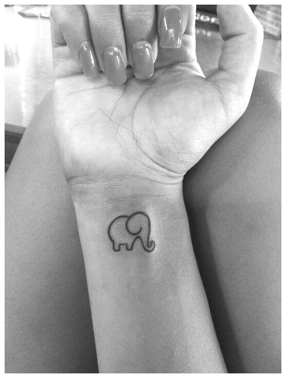 Elephant animal tattoos small tiny size