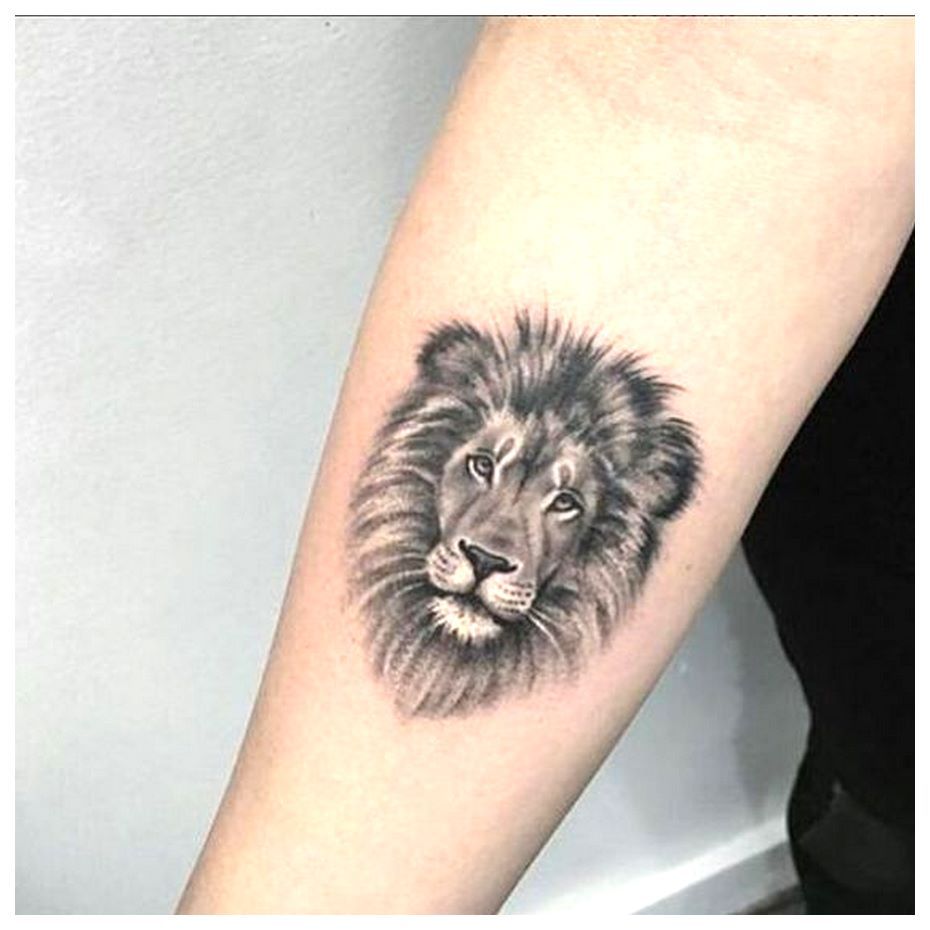 Lion Head tattoo small