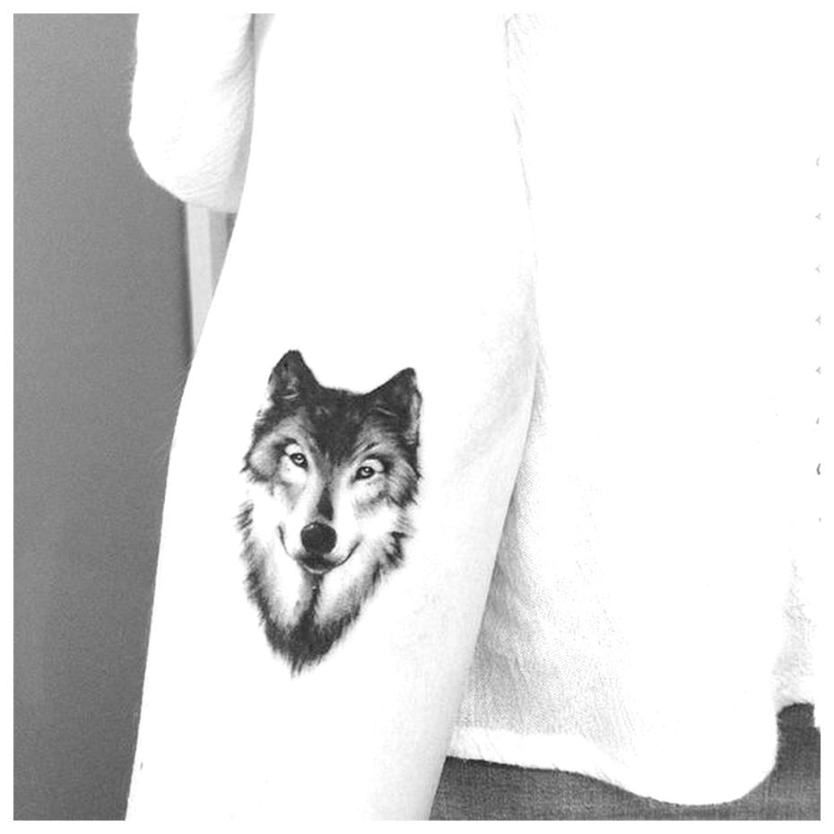Wolf tattoo small