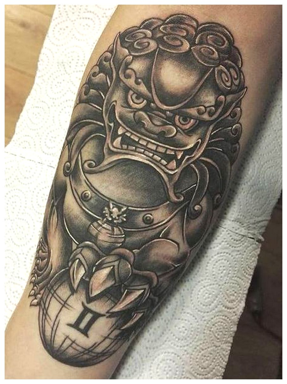 asian foo dog tattoo